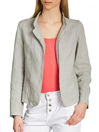 caspar bzr004 veste blazer en lin pour femme tre la mode. Black Bedroom Furniture Sets. Home Design Ideas