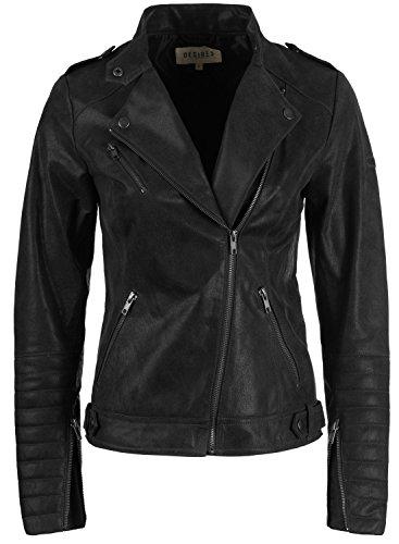 Desires zalla veste en cuir v ritable femme tre la mode - Laver une veste en cuir ...