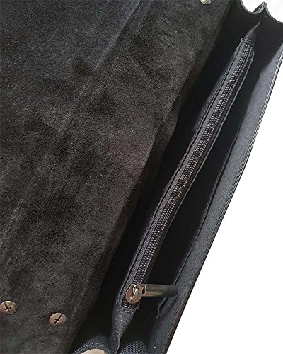 6e15833275 ... sac à bandoulière avec chaîne en nickel foncé fermeture accessoire,  cuir lisse et suède. Sale. PrevNext