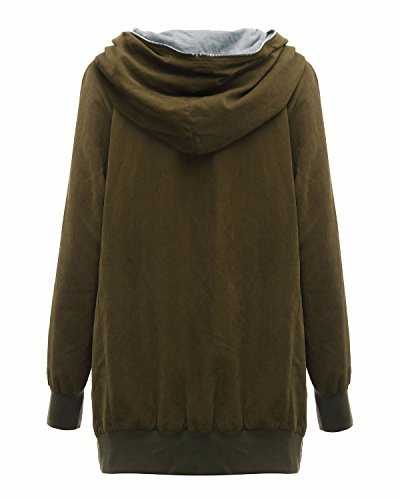 zanzea femme automne hiver grande taille capuche manches longues chaud zipper cardigan blouson. Black Bedroom Furniture Sets. Home Design Ideas