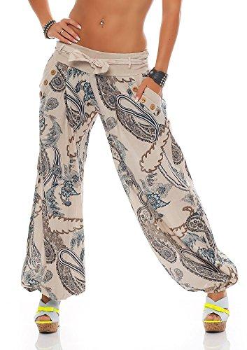 zarmexx dames bloomers pantalon sarouel t pluder aladin pantalons de plage ornement pantalon. Black Bedroom Furniture Sets. Home Design Ideas